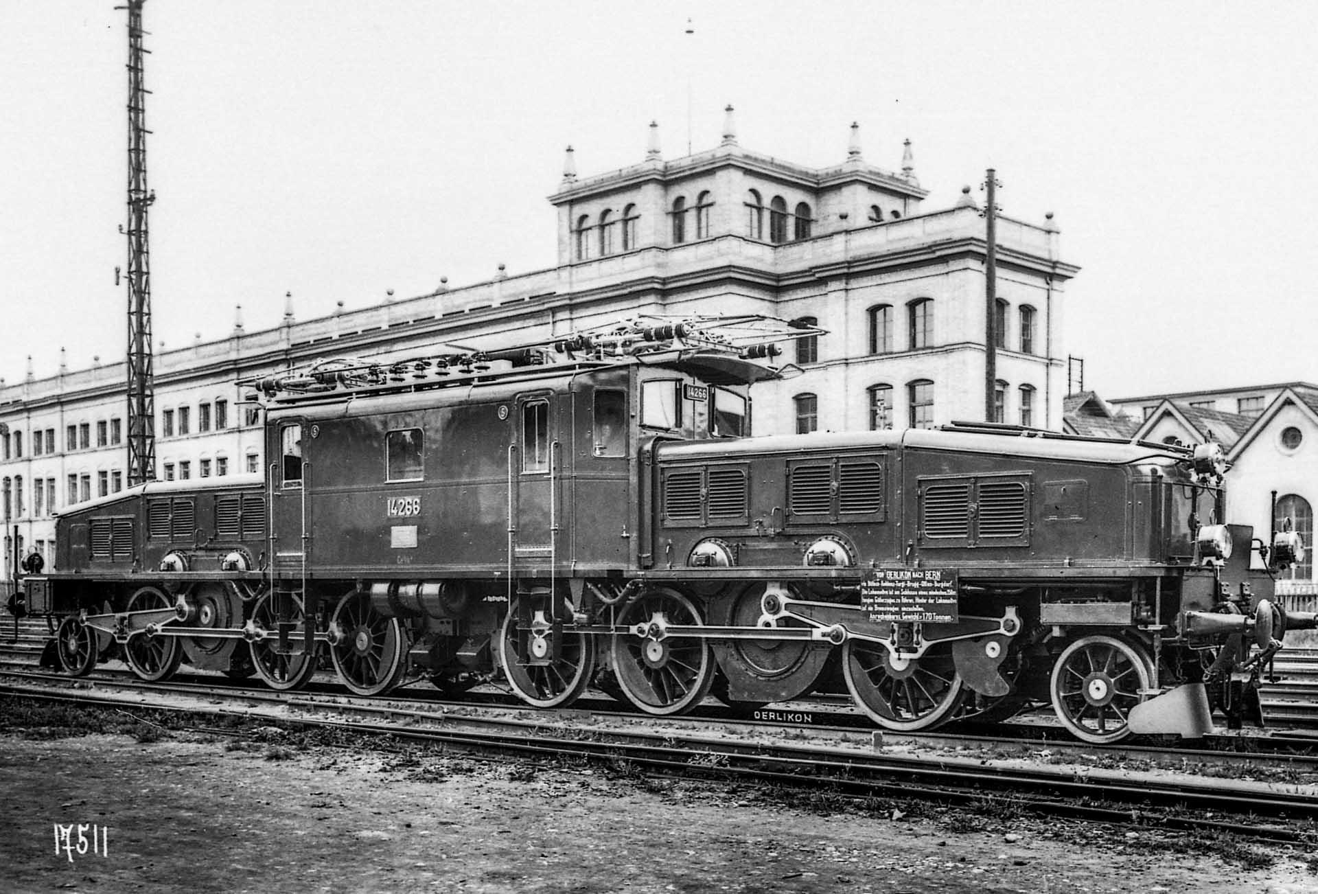 Neue Krokodil-Lokomotive in Oerlikon