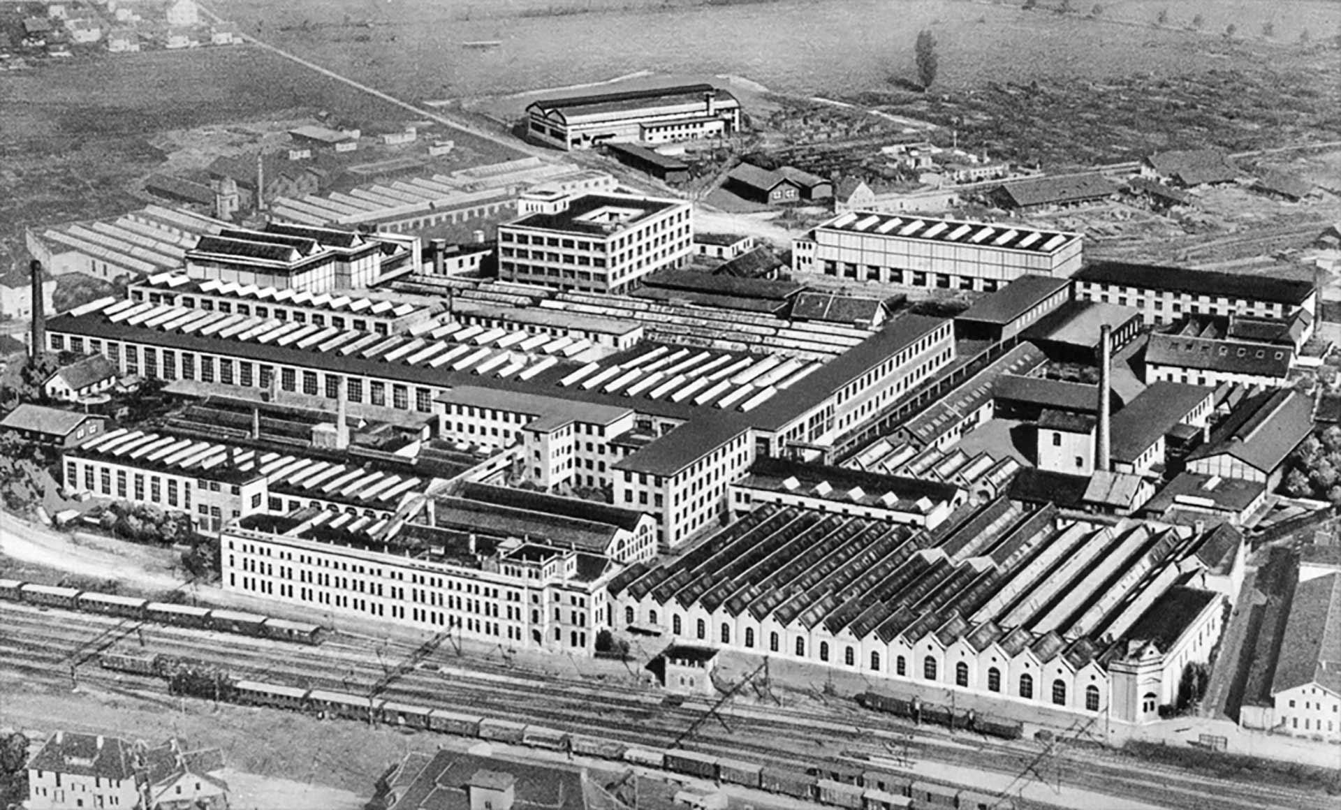 Die Maschinenfabrik Oerlikon im Jahre 1930 (Luftaufnahme)