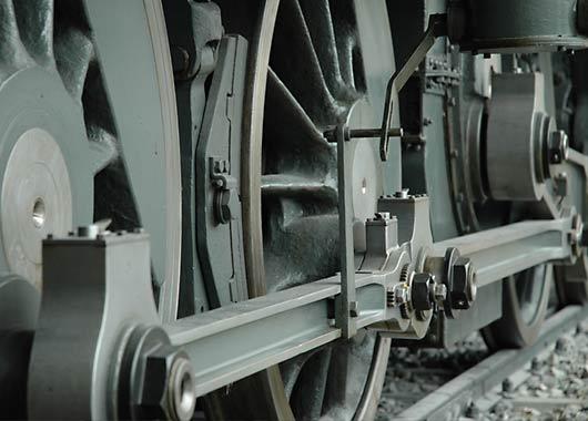 Räder und Gestänge der «Krokodil»-Lokomotive